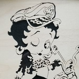 Betty Boop Other - VERY RARE- Betty Boop 1950's wood cut out framed